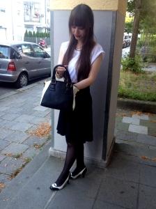 1 Teil 5 Styles Outfit elegant Business High Heels Tasche schick