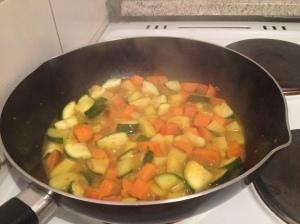 Gemüse Curry Pfanne kochen vegan