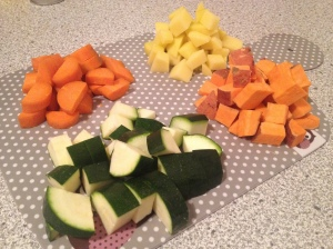 Gemüse Zutaten Curry vegan