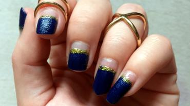 Silvester Nailart blau gold
