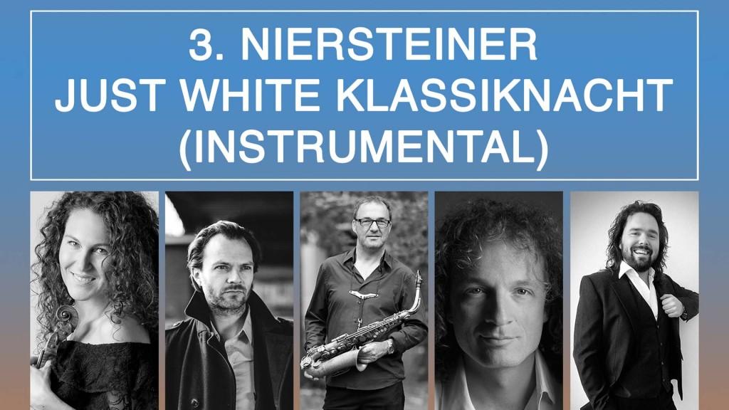 3. Niersteiner Just White Klassiknacht (instrumental). v.l.n.r. Elitza Poxleitner, Tino Horat, Tonverein (Andreas Steffens und Leo Henrichs) und Ilja Martin